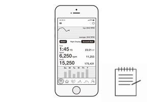 Functie NSD Spinner Bluetooth App - Real-time waarneming