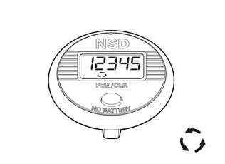 Funktionen des NSD Speedometer Single Button - Aktuelle Drehzahl