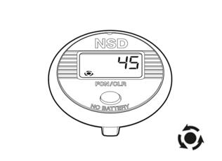 Funktionen des NSD Speedometer Single Button - Gesamtzahl der Umdrehungen