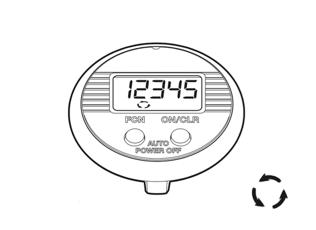 Funktionen des NSD speedometer dual button - Aktuelle Drehzahl