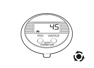 Funktionen des NSD speedometer dual button - Gesamtzahl der Umdrehungen