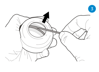 Startprocedure NSD Spinner powerball met startkoordje - Stap 3