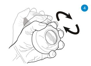 Startprocedure NSD Spinner powerball met startkoordje - Stap 4